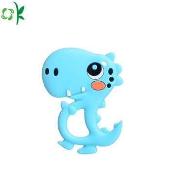 BPA Free Dinosaur silikon Teether Baby Toy
