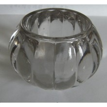 Stocks Clear Pumpkin Shaped Glass Candle Holder