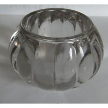 Stocks Limpar abóbora em forma de vidro Candle Holder