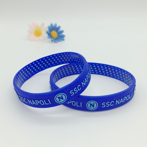 Colorized embossed silicone bracelets