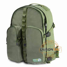 Military Tactical Backpack of 1000D high strength waterproof and flame retardant Cordura or nylon