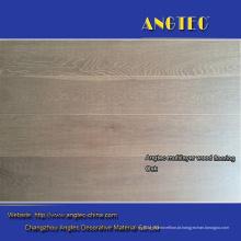 Revestimento de madeira projetado branco do carvalho europeu da escova branco fumado