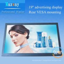 Affichage vidéo HD 19 pouces lcd publicité signalisation numérique