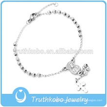 316 Stainless Steel Bead Wholesale Religious Rosary Bracelet for Girl Our Lady of Guadalupe Cross Bracelet for Catholic