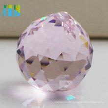 Charme facettierte Kristall hängende Kugel, die Kristallkorn für Hochzeits-Dekorationen beleuchtet