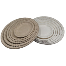 Wholesale Disposable Environmentally Friendly Bagasse Plates Snack Fruit Plate For Party