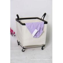 chariot de blanchisserie de vente chaude et sac de toile de blanchisserie