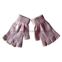 Personalizado hecho a mano de acrílico medio dedo guantes / mitones