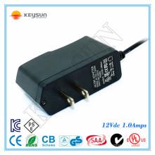 EU ac 2 pin plug 12v 1a dc power supply