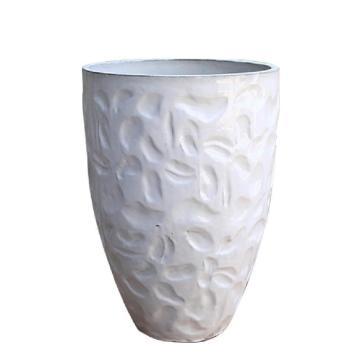Großhandel weiße Keramik glasierte Garten Pflanztöpfe
