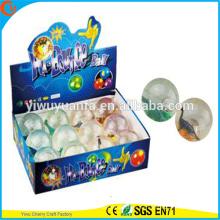Diseño de la novedad Christmas'gift LED Rubber 75mm Dinosaur Light-up Bouncy Ball