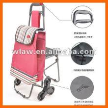 Carrinho de compras dobrável com assento e bolsa
