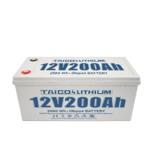 Deep Cycle 12.8V 200AH 100AH Lithium Ion LiFePO4 Rechargeable Forklift Lithium Batteries With BMS
