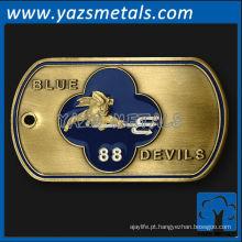 personalize a etiqueta de cão de metal, diabos azuis de alta qualidade personalizados 88 Tag de cão