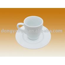 Custom glazed ceramic mug and plate