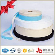 Weißes oder buntes elastisches Nylonpolyesterbaumwollgewebeband für Taschen