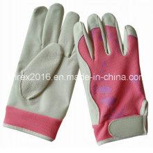 Safety Housewife Gardening Working Flower Lady Pigskin Gloves