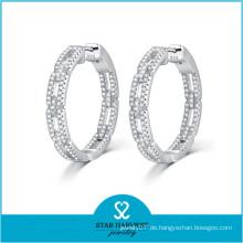 Neueste Design Mode Runde Gold Ohrringe Designs für Mädchen (E-0248)