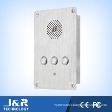 Flush Mount Emergency Telephone Vandal Resistant Intercom