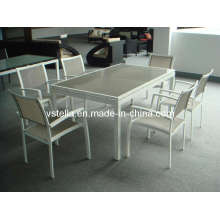 Dining Set Garden Outdoor Textilene Furniture