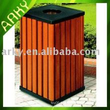 Dustbin de bois de plein air de bonne qualité