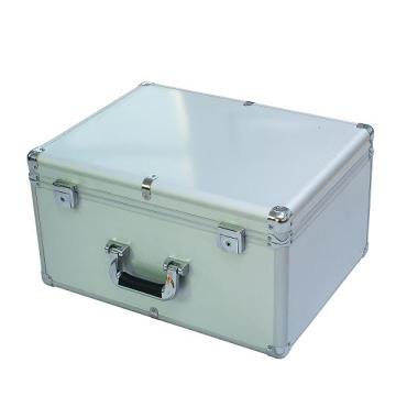 Silber-Aluminium-Box mit dem gebürsteten Metall-Panel (Keli-D-50)