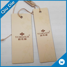 Two Pieces Beige UV Hem Tag for Underwear Clothing