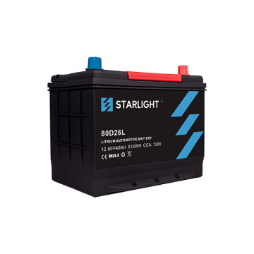 Batterie de voiture LiFePO4 / 12V 80D26L (type standard)