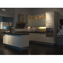 Russia Most Popular Classic Antique White Wood Kitchen Cabinet
