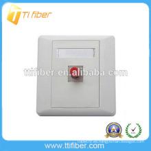 Placa frontal de la fibra óptica del FC del solo puerto de la alta calidad / placa de pared