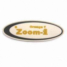Patch en caoutchouc de mode, étiquette en caoutchouc, insigne en caoutchouc ZGA-RL14