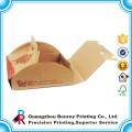 Logotipo de la historieta de la caja de embalaje de la pizza de la comida del cartón de papel de encargo impreso