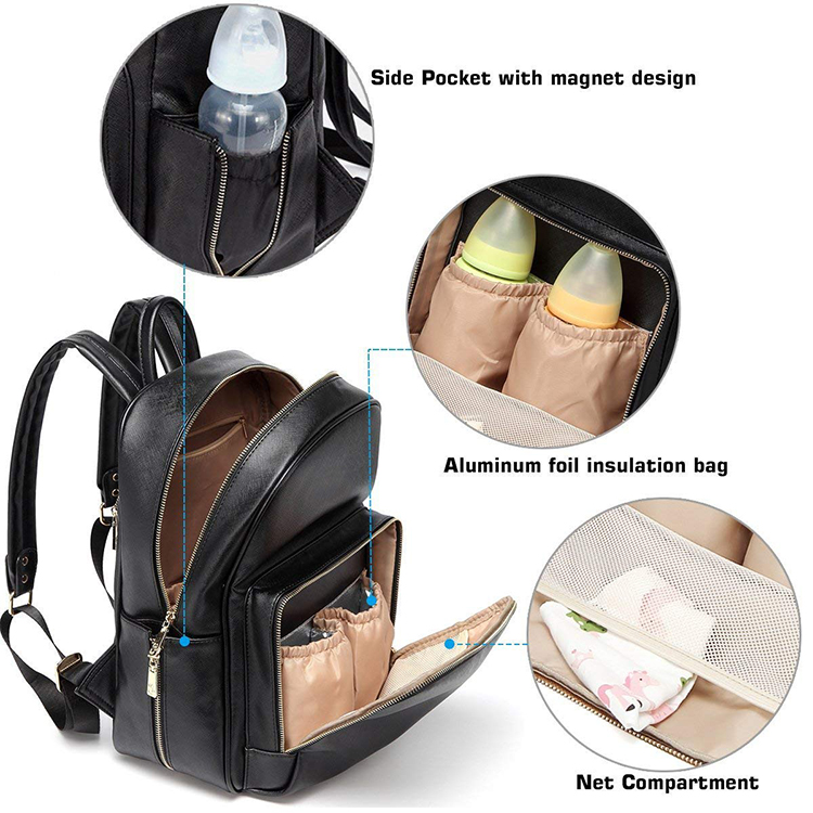 Leather Diaper Bag 9