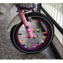 Clip de plástico para bicicleta, cuentas redondas, radios de rueda de estrella