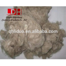 Fibra de desecho de lana marrón