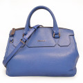 Blue Market Metallic Futter Tote aus Pebble Leather