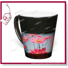 12oz Sublimation Black Color Magic Latte Mug