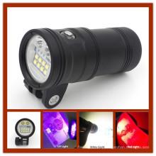 2016 HI-MAX Tauchausrüstung 5000LM + UV LED Tauchfackel für Großhandel