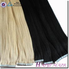 Large Stock Top Quality Virgin Hair tape extensions dark red