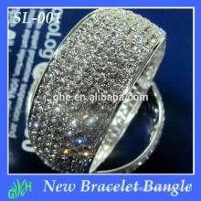 Yiwu Wholesale New Fashion bracelete, rhinestobraeceltne bracelete, bracelete de prata