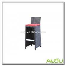 Rattan Stool/Outdoor Rattan Bar Stool With Red Cushion