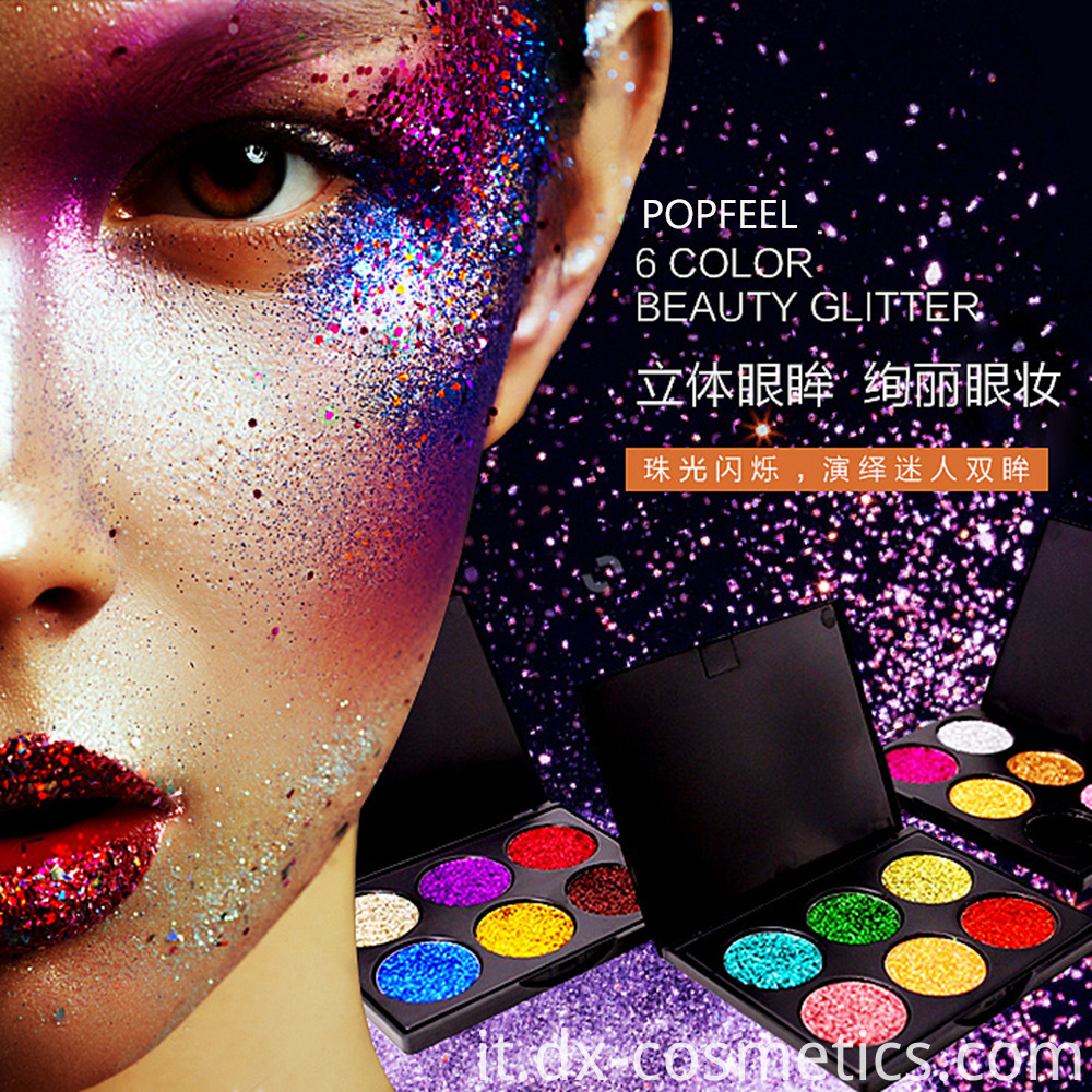 6 Colors beauty Gligger Eye Shadow 1