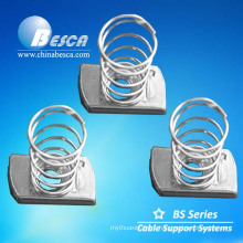 Hot Dip Galvanized Steel Spring Nuts and threaded M6
