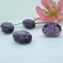 Perle en cristal violet haute qualité en vrac