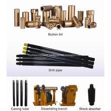 Top hammer casing system drilling tools