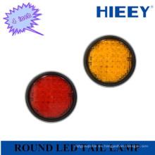 4 pulgadas redondo LED indicador de la lámpara de cola / luz trasera para el coche de alta resistencia