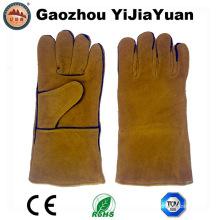 Gants de soudure à main-d'œuvre en cuir travaillé en peau de vache avec En407