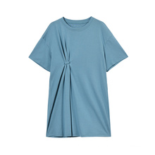 Women Fashion Cotton Stretch Short Sleeve T-shirt Dress