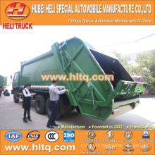 DONGFENG 6x4 16/20 m3 heavy duty rear loader garbage truck diesel engine 210hp with pressing mechanism