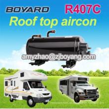 R407c horizontale a / c Kompressor für RV SUV Camping Car Caravan Roof Top montiert Reisewagen AC